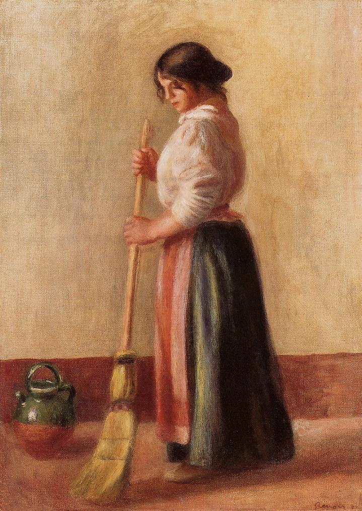 Sweeper, 1889. Pierre Auguste Renoir