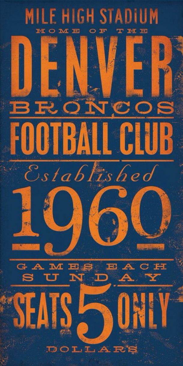 Old School. Broncos Denver americanfootball american