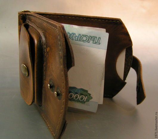 Bags & Accessories handmade. Wallet money clip. VOLGA-VOLGA. Online shopping on My Livemaster. Leather purse
