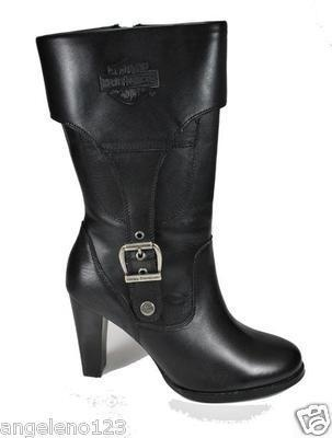 HARLEY DAVIDSON Reese Women Size Black Leather Fashion Casual Style BOOTS  85173