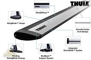 Thule ARB53 Aeroblade 53-Inch Roof Rack Bars $134.95