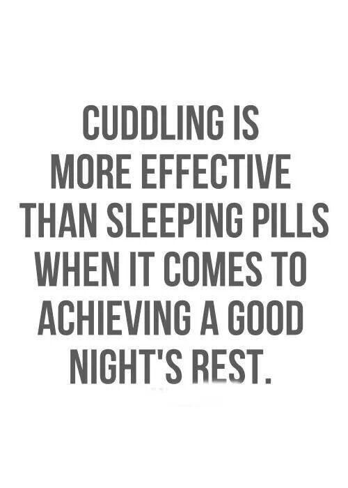 Although I am a fan of cuddling, I feel like the latter is a better alternative. lol