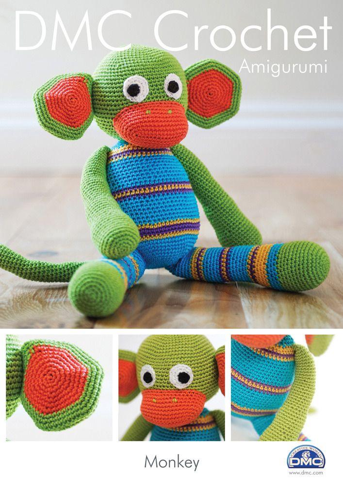 Monkey in DMC Petra Crochet Cotton Perle No. 3 - 15048L/2