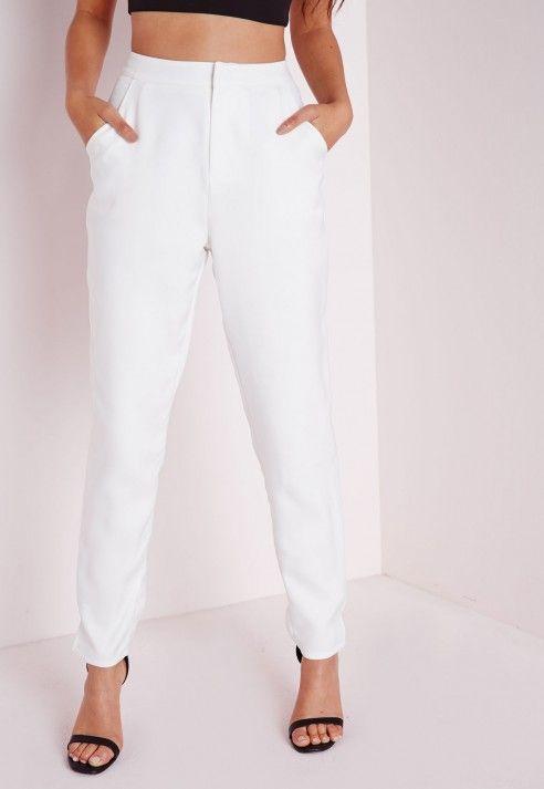 Cigarette Trousers White - Cigarette - Trousers - Missguided
