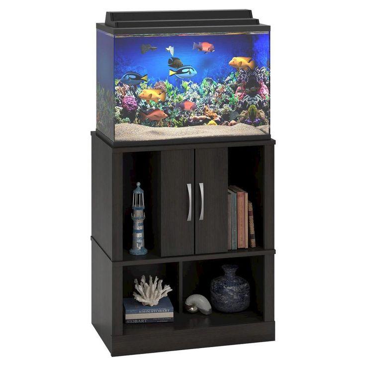 Cove 20 Gallon Aquarium Stand - Black Forest - Ameriwood Home, Brown