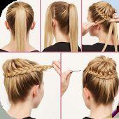 tutorial gaya rambut panjang
