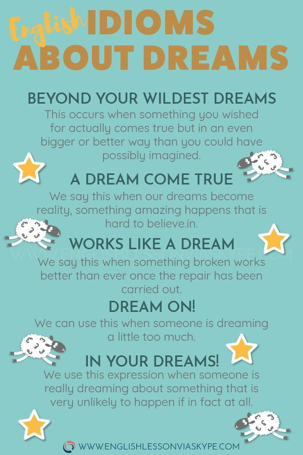 English Idioms Related To Dreams Increase English Vocabulary Learnenglish Englishlessons Englishte English Idioms English Lessons Learn English Vocabulary