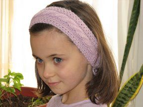 a child's winter headband can be enlarged for adult