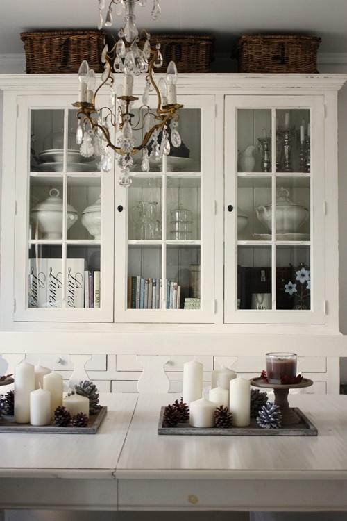 Baskets on top of black cupboard-LOVE