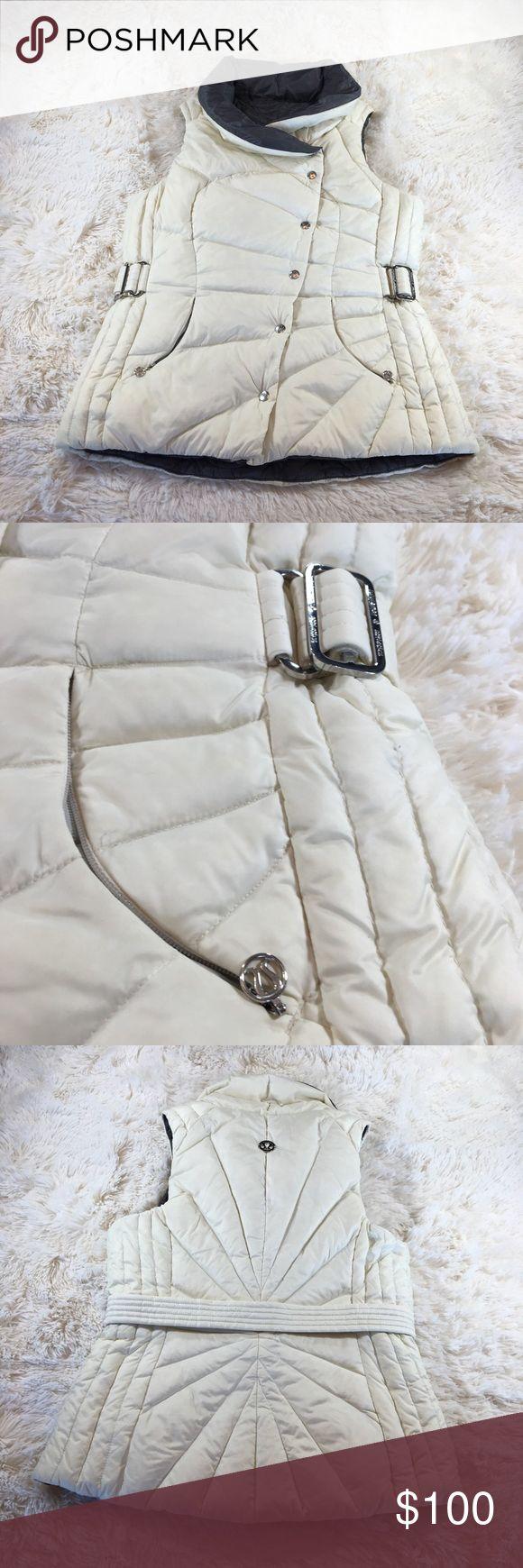 Lululemon Athletica Vest Lululemon Athletica Vest button up but also zips up. Size 6 color off white.      Box../20 lululemon athletica Jackets & Coats Vests