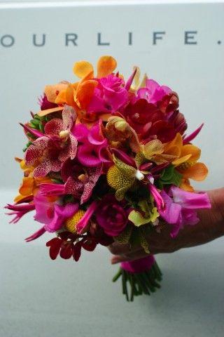 Bruidsboeket met orchideen