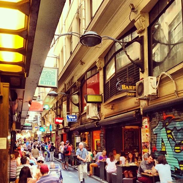 Degraves lane in Melbourne, Australia. @adamjhamilton7