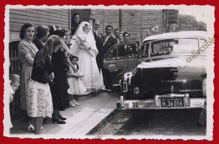 ## 22310 CONSTANTINOPLE Turkey 1950s. Wedding Greek. Photo PC size ZUMRUT