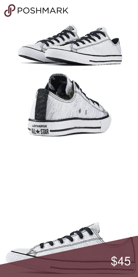 bba3bdb7e77212 White and Black Converse Chuck Taylor RUN A HALF SIZE LARGE. White and Black  Junior Chuck Taylor s. Would go great with an…