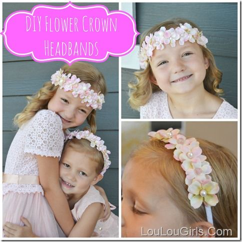 DIY Crown Flower Headband For Girls