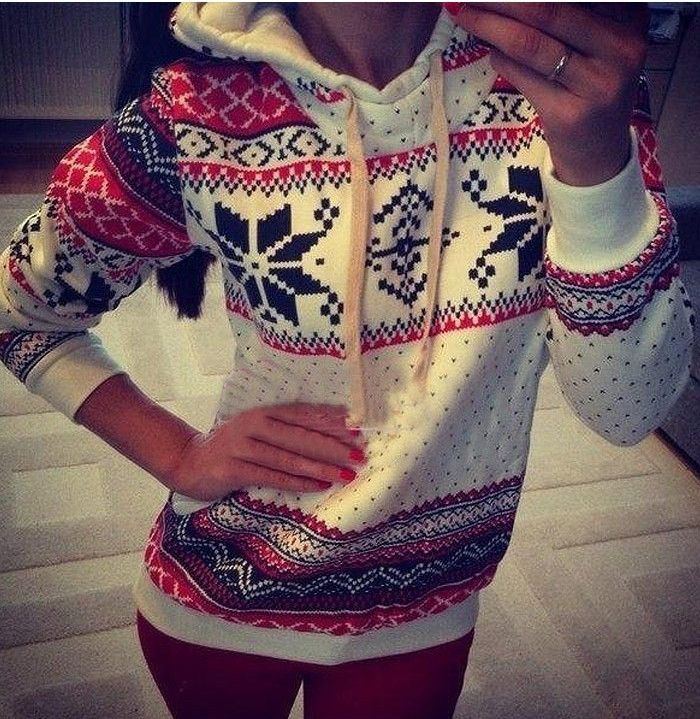 Snow Envy Christmas Printing Sweatshirt: This is perfect for Christmas sweater day at school!