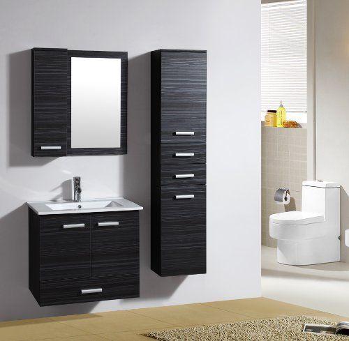 Badezimmermöbel Set Badmöbel Bilbao Wenge M 70282/1190 Spiegel Hängeschrank