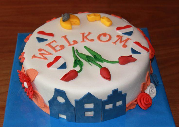 Themataarten - Koning Kikker Welcome to Holland cake