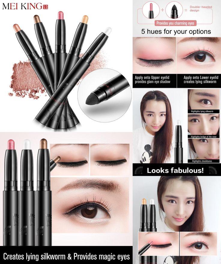 [Visit to Buy] MEIKING makeup Eye Shadow & Liner Combination  Multi-Use Chunky Pencils for Eyeliner brand of glitter waterproof eyeliner pencil #Advertisement