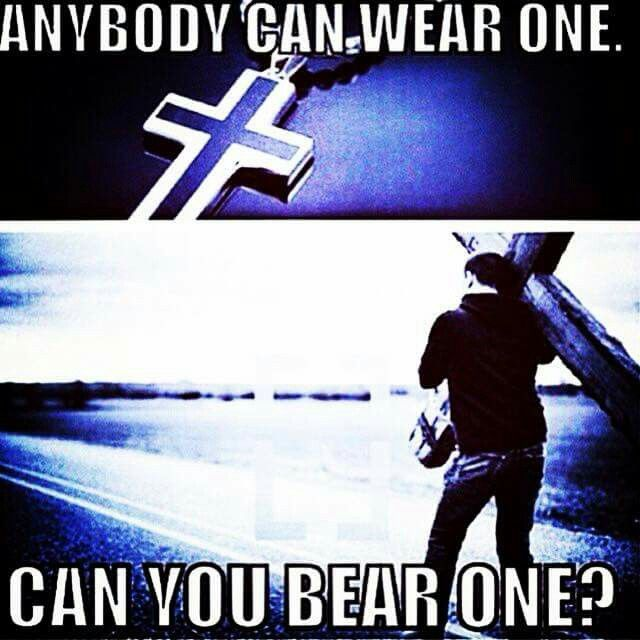 Don't confuse wearing it close to your heart to actually having Him abiding in it. It can be physically close to you but you may still be far away from God. Do your actions reflect what you claim?
