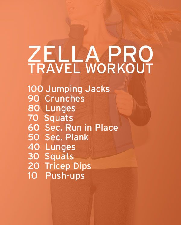 Perfect workout that can be done in a hotel room while traveling | Zella Pro Travel Workout