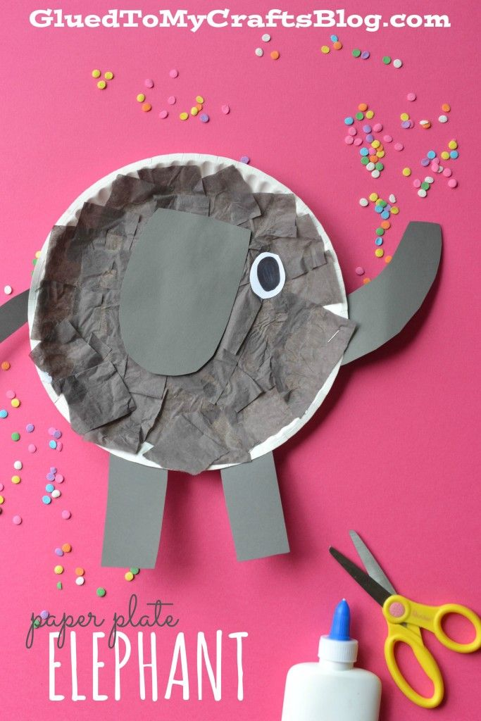 Paper Plate Elephant - Kid Craft