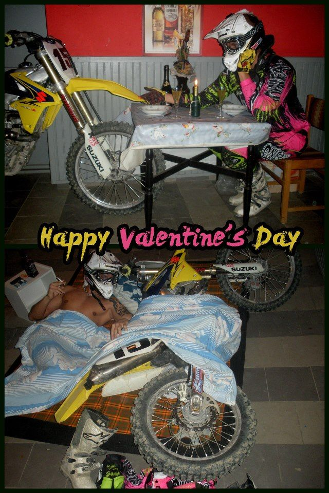 Big Four Wheelers >> Motocross | Happy Valentine's Day ??? | Motocross! | Dirt bike quotes, Motocross funny, Enduro ...