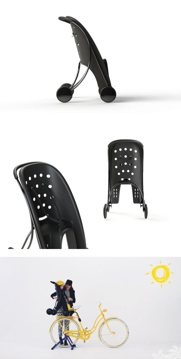 Påhoj is a Bike Seat and Stroller in One