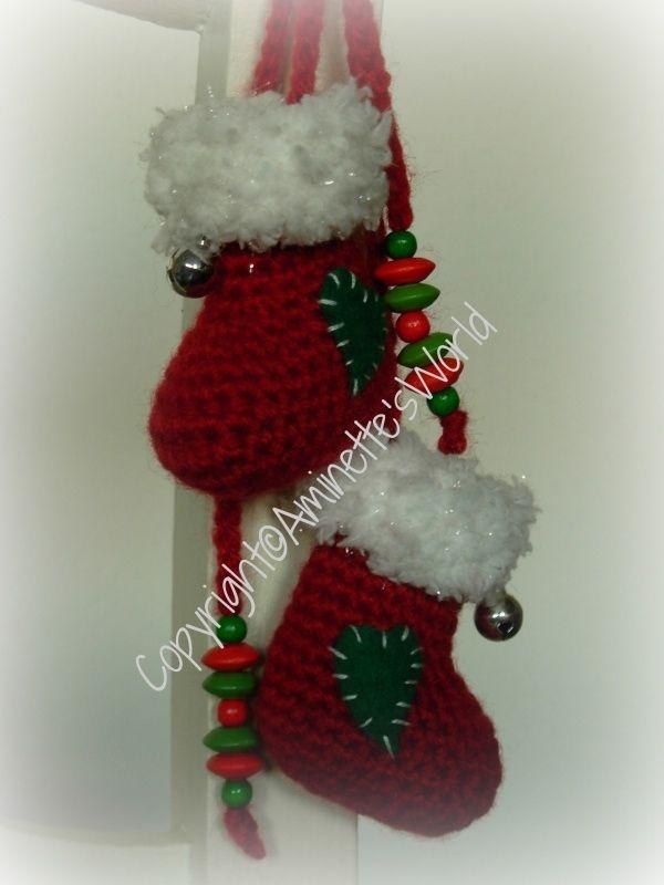 Patroon Mini Kerstlaarsjes