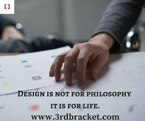Design is not for philosophy it is for life. http://www.3rdbracket.com  #creativity #creative #freelancer #logodesigns #logo #logodesigner