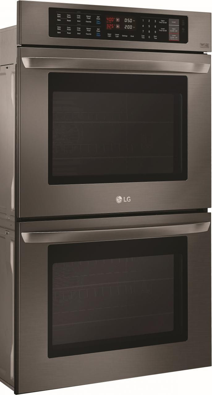 Lg 30 Electric Built In Double Wall Oven Black Stainless Steel Lwd3063bd Wallovensblack Wallovenselectric