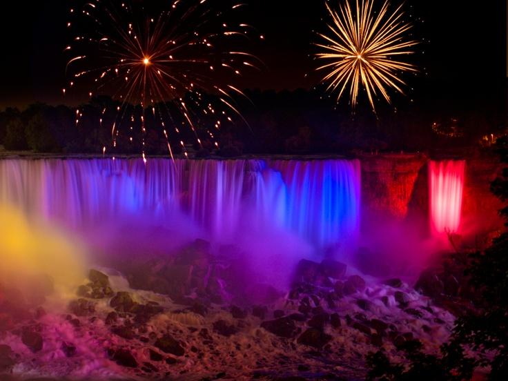 Fireworks ~ Niagara Falls At Night