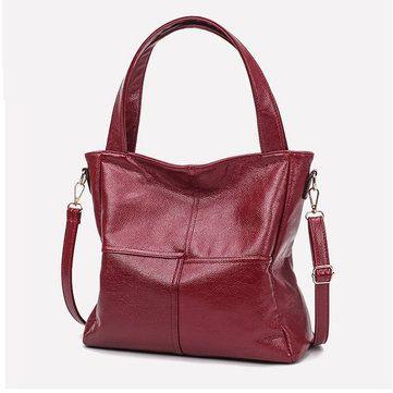 Women Genuine Leather Cowhide Hangbag Casual Cowhide Shoulder Bag - US$33.56