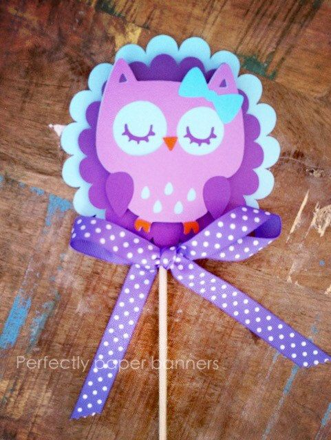 Owl Smash Cake Topper by PerfectlyPaperBanner on Etsy