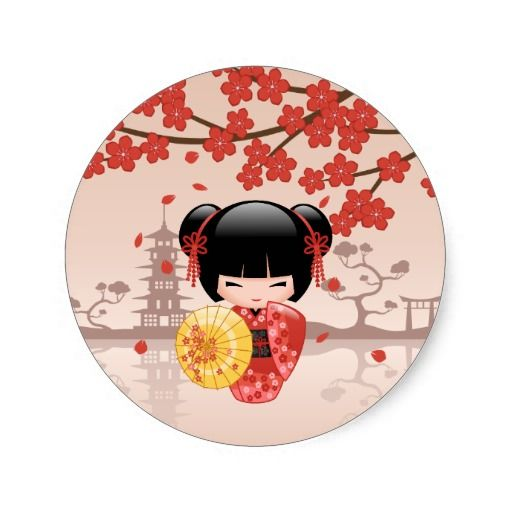 327 best kokeshi doll printables images on pinterest for Stickers kokeshi