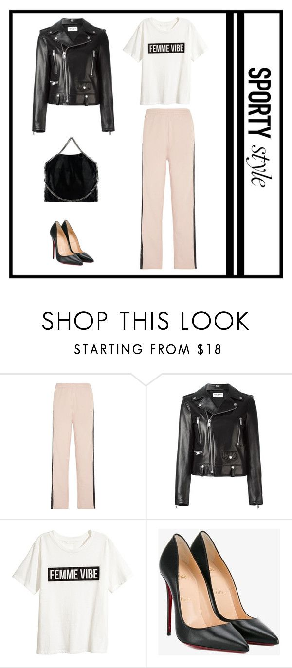 """sporty style"" by natyapshopper on Polyvore featuring moda, MM6 Maison Margiela, Yves Saint Laurent, H&M, Christian Louboutin y STELLA McCARTNEY"