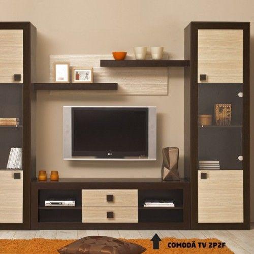 Dedeman sistem living tramonto comoda tv tp2f w f wenge for Mobilier tv