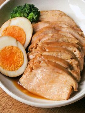 5分で簡単!胸肉やわらか鶏チャーシュー✿                                                                                                                                                     もっと見る