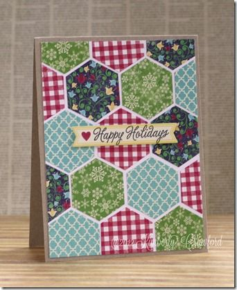 Quilted Christmas card Scrapbook Adhesives by 3L