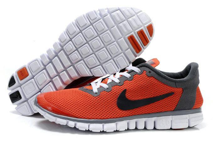 946f3da85386 Nike Free 3.0 V2 Mens Original OrangeRed Dark Grey