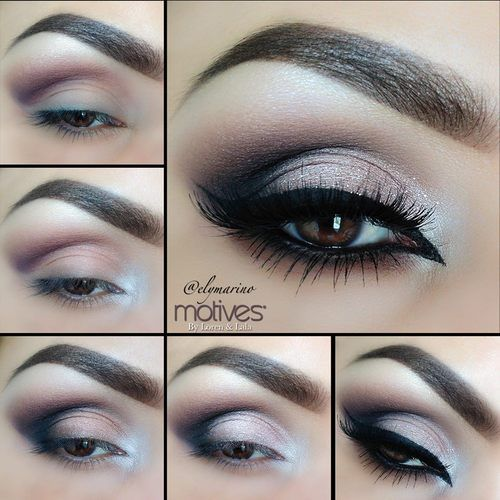 This amazing look by @elymarino is a modern take on classic glam.  Perfect for any special occasion using neutral colors to create a dramatic look!