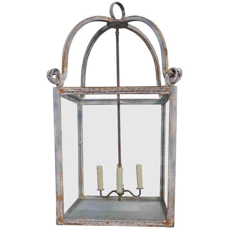 Painted Italian Wrought Iron Lantern | From a unique collection of antique and modern lanterns at https://www.1stdibs.com/furniture/lighting/lanterns/