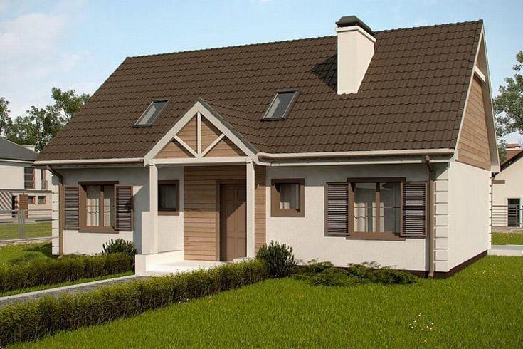 Pozrite si zrekonštruovaný dom Z8 s upraveným usporiadaním, s podlahou až po strop a šikmou strechou 40 °.  Obr.  Z500