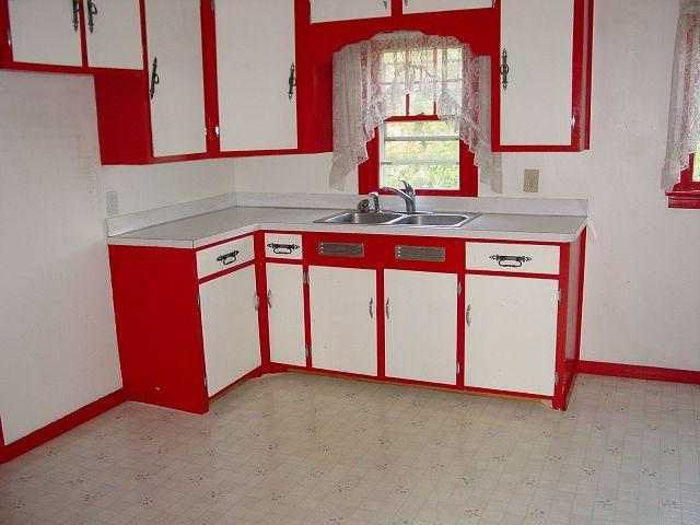 Painting Kitchen Cabinets Red And White | Home Design Gallery Part 79