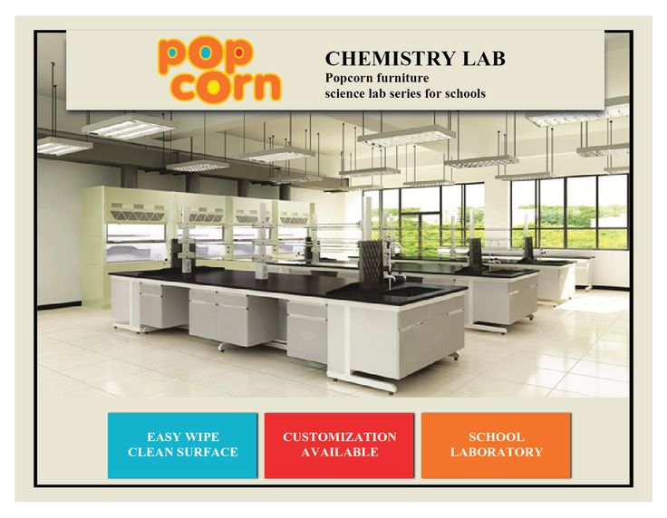 Popcorn furniture, one of the largest school furniture suppliers in India, manufactures easy to use, safe and modern chemistry laboratory for schools.   The Chem Lab manufactured by Popcorn furniture can be customized to the school requirements and installed at the school premises. Chemistry Lab design by Popcorn Furniture considers another important requirement of having an easy wipe clean surface on the lab.  Visit www.popcornfurniture.com/laboratory-furniture