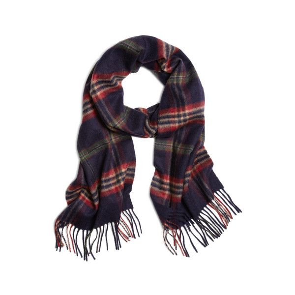 Brooks Brothers Signature Tartan Cashmere Scarf (19,205 INR) ❤ liked on Polyvore featuring men's fashion, men's accessories, men's scarves, mens cashmere scarves and mens plaid scarves