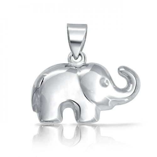925 Sterling Silver Good Luck Charm Happy Elephant Pendant