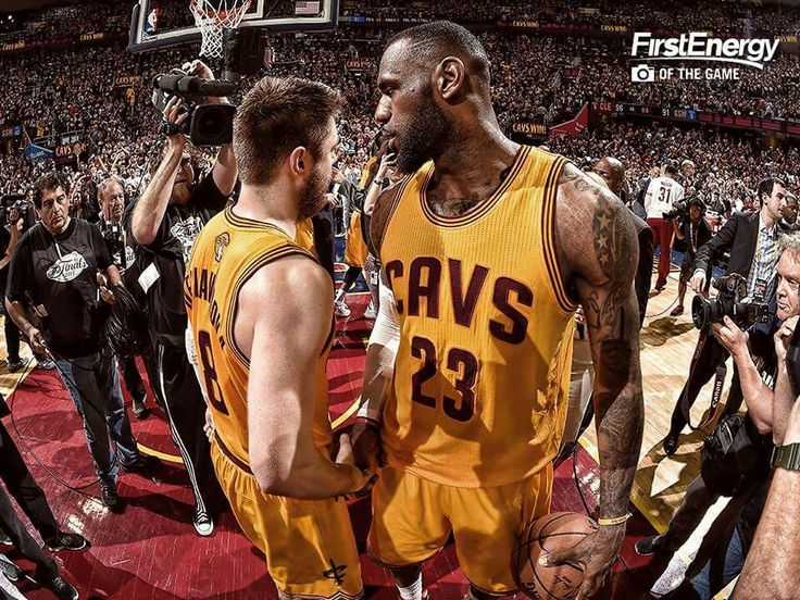 Delly and King. #TheLand #2015Playoffs #TheFinals