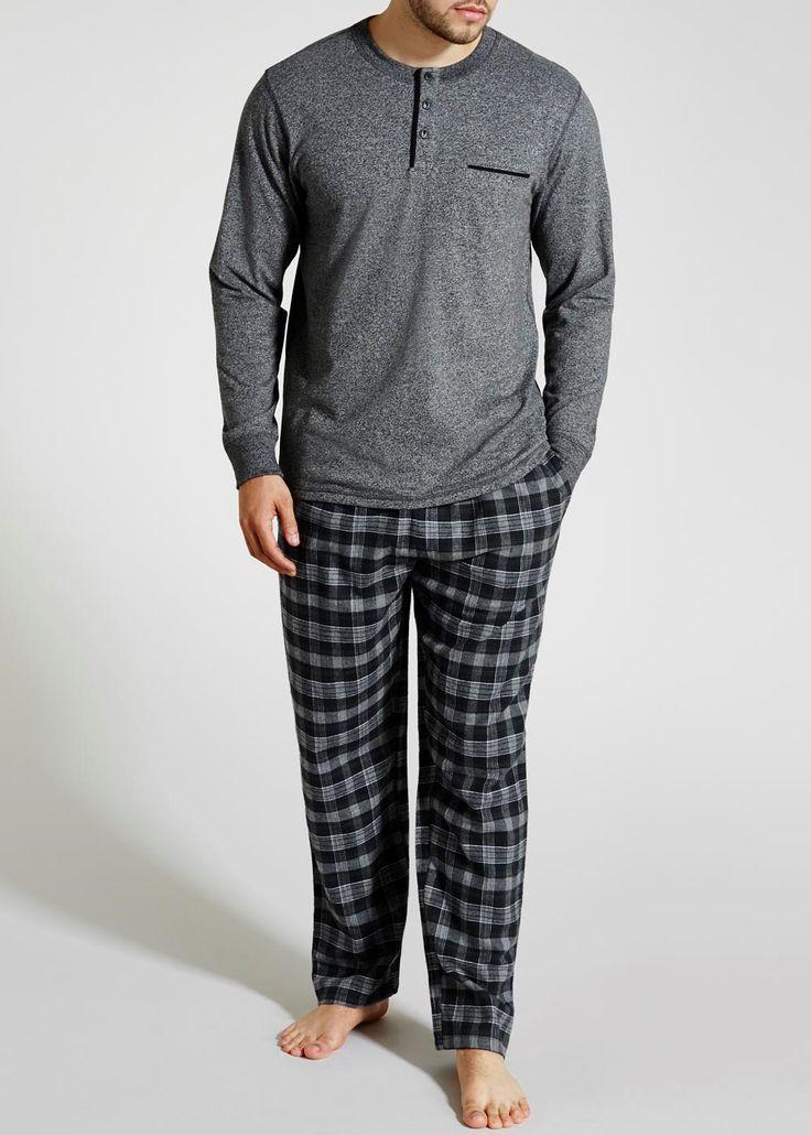 Long Check Pyjama Set - Matalan