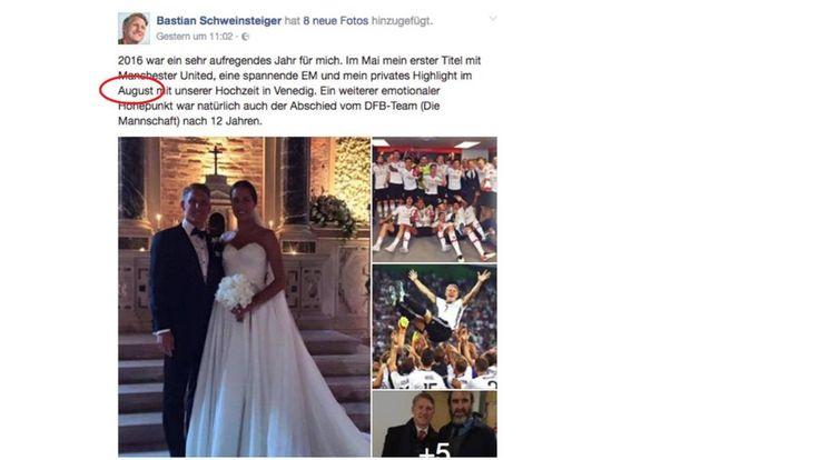 News: Facebook-Patzer: August oder Juli? Schweinsteiger verwechselt sein Hochzeitsdatum - http://ift.tt/2ifMd9j #nachrichten